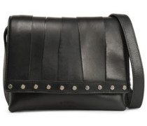 Stud-embellished leather shoulder bag