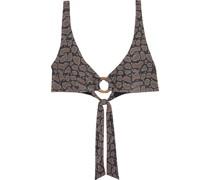 Jade Bikini-oberteil mit Schlangenprint