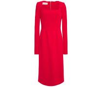 Scalloped Stretch-cady Midi Dress