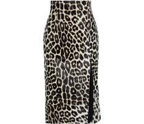 Lipton Leopard-print Calf Hair Midi Skirt