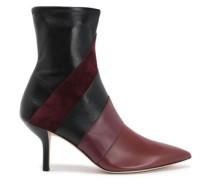 Miles paneled leather ankle boots