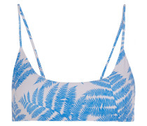 Hermosa Printed Bikini Top Azurblau