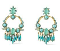 24 Kt. Vergoldete Ohrringe mit Swarovski-kristallen und Steinen