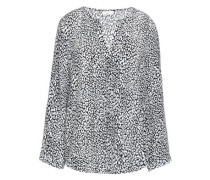 Purine printed washed-silk blouse