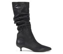 Metallic Leather Boots