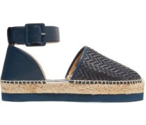 Ursula textured and woven leather espadrilles