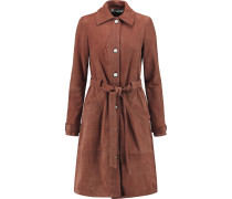 Whitley Belted Suede Trench Coat Braun