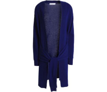 Edith tie-front wool and cashmere-blend cardigan