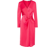 Coats Twist-front Satin-crepe Dress