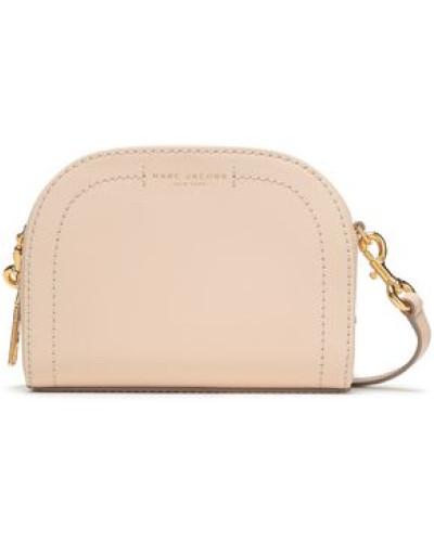 Textured-leather Shoulder Bag Ecru Size --