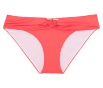 Low-rise Embellished Bikini Briefs Papaya