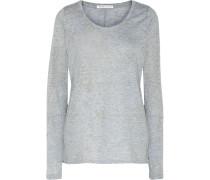 Mélange Stretch-jersey Pajama Top Himmelblau