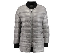Quilted Padded Shell Jacket Grau
