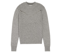 Durand Stud-embellished Wool And Cashmere-blend Sweater Anthrazit