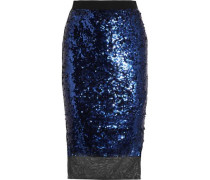 Mandias sequined stretch-mesh skirt