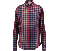 Checked Cotton-twill Shirt Bordeaux