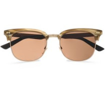 D-frame Acetate Sunglasses Gold Size --