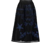 Dinah embroidered woven midi skirt