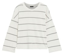 Cropped Striped Cotton-jersey Top