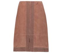 Riva Studded Suede Skirt Camel