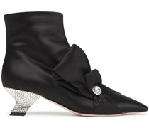Lavallière Embellished Satin Ankle Boots