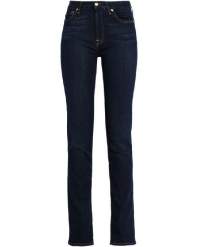 Mid-rise Straight-leg Jeans Dark Denim  6