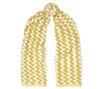 Crochet-knit Scarf Gelb