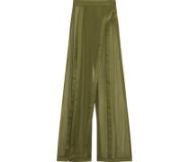 Silk wide-leg pants
