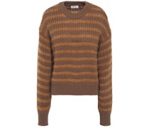 Kristen Striped Ribbed-knit Sweater
