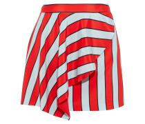 Nicky Draped Striped Silk Crepe De Chine Mini Skirt
