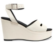 Maggie leather wedge sandals