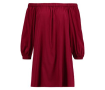 Desiree off-the-shoulder silk-blend mini dress