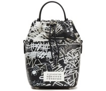 5ac Printed Leather Bucket Bag