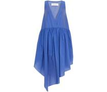 Asymmetrisches Kleid aus Taft mit Raffung