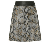 Elene Snake-effect Leather Mini Wrap Skirt