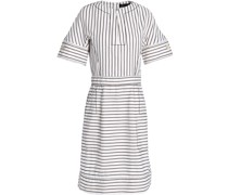 Striped Stretch-cotton Jacquard Mini Dress
