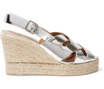 Bisba metallic leather wedge sandals