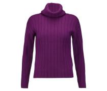 Wool Rib-knit Turtleneck Sweater Violett