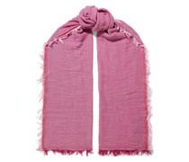 Nassau Frayed Herringbone Wool And Cotton-blend Scarf