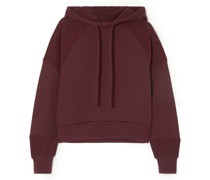 Sunnyside Embroidered Cotton-blend Terry Hoodie