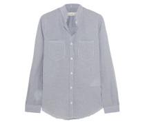 Susan Checked Cotton Shirt Blau