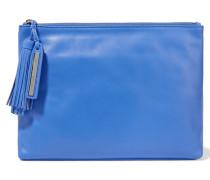 Leather Clutch Blau