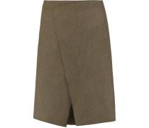 Saar Wool-blend Skirt Armeegrün