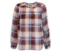 Safford checked silk-chiffon blouse