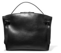Hill Textured-leather Tote Schwarz