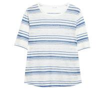 Striped Slub Linen-jersey T-shirt