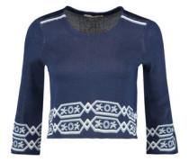 Mathieu cropped jacquard-knit sweater
