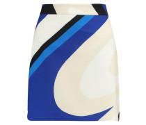 Printed Crepe Mini Skirt Blau