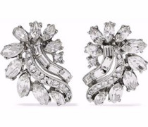 Silver-tone Swarovski crystal earrings