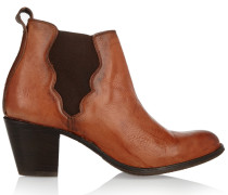 Jackie Leather Ankle Boots Brown